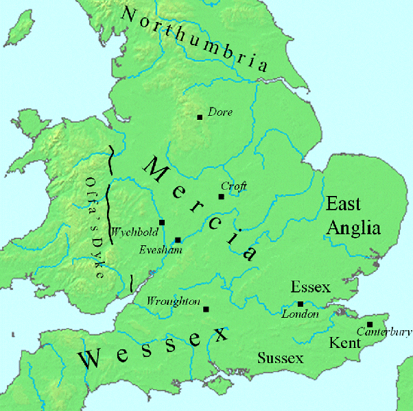 Offa's Dyke Map