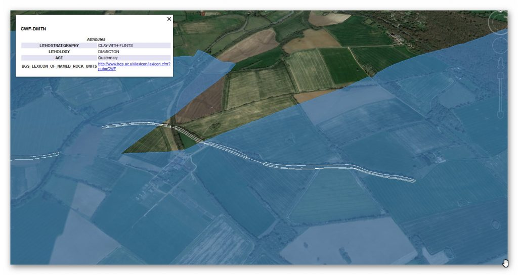 BGS Geological Map - Prehistoric canals (dykes)