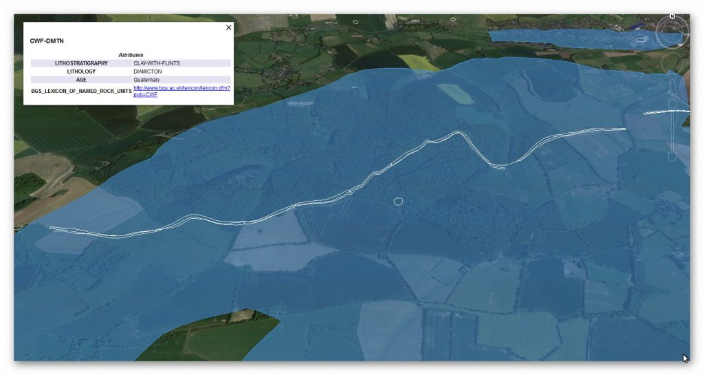 BGS Section 2 Map - Prehistoric canals (dykes)