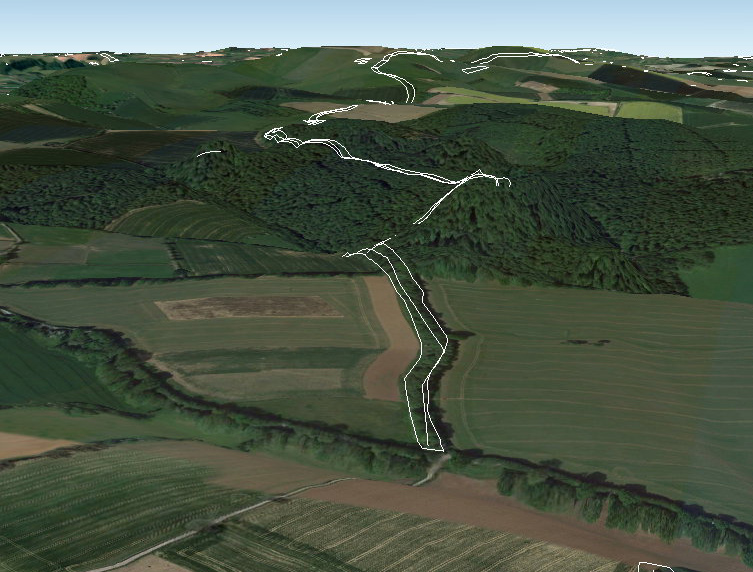 Google Earth Map of Section 2 - Prehistoric canals (dykes)