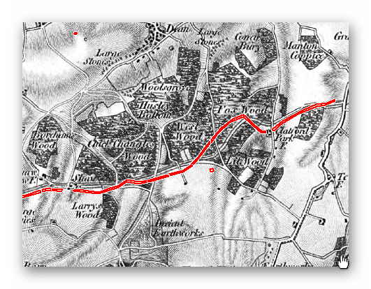 OS 1800s Section 2 Map - Prehistoric canals (dykes)
