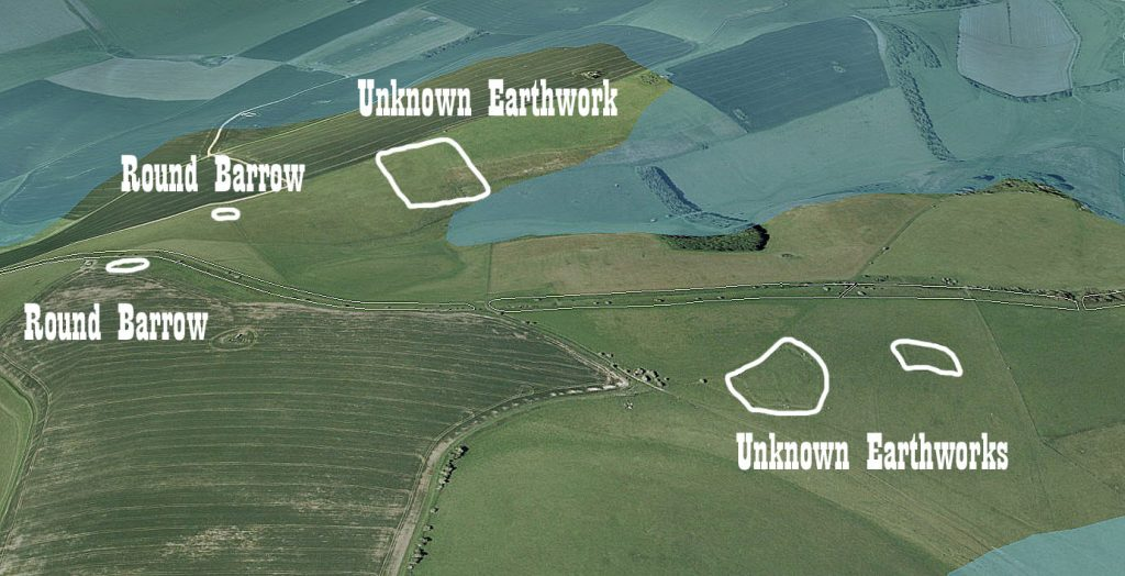 GE Section 3,  unknown earthworks - Prehistoric canals (dykes)