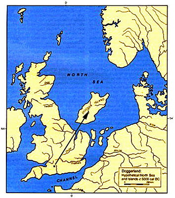 Stonehenge Alignment (Altar stone through the Slaughter stone) - Sunken lands of the North Sea