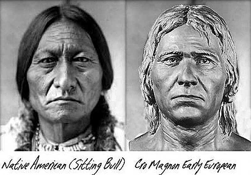 Cro-Magnon v Red Indian- First European to reach America